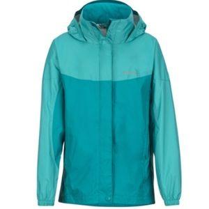 Kids Marmot Teal Tide Windbreaker Rain Jacket